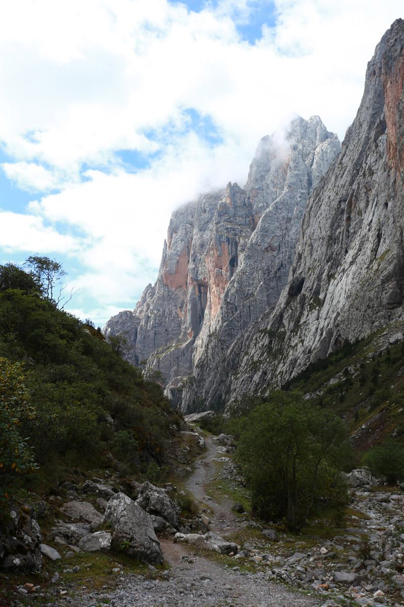 越往山里走,路越窄,最后只身下一人多宽的小路
