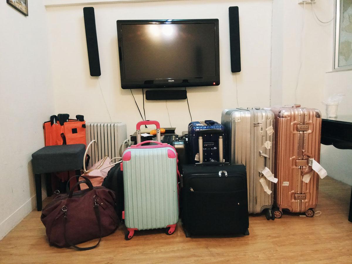 我们的行李,累死先人板板