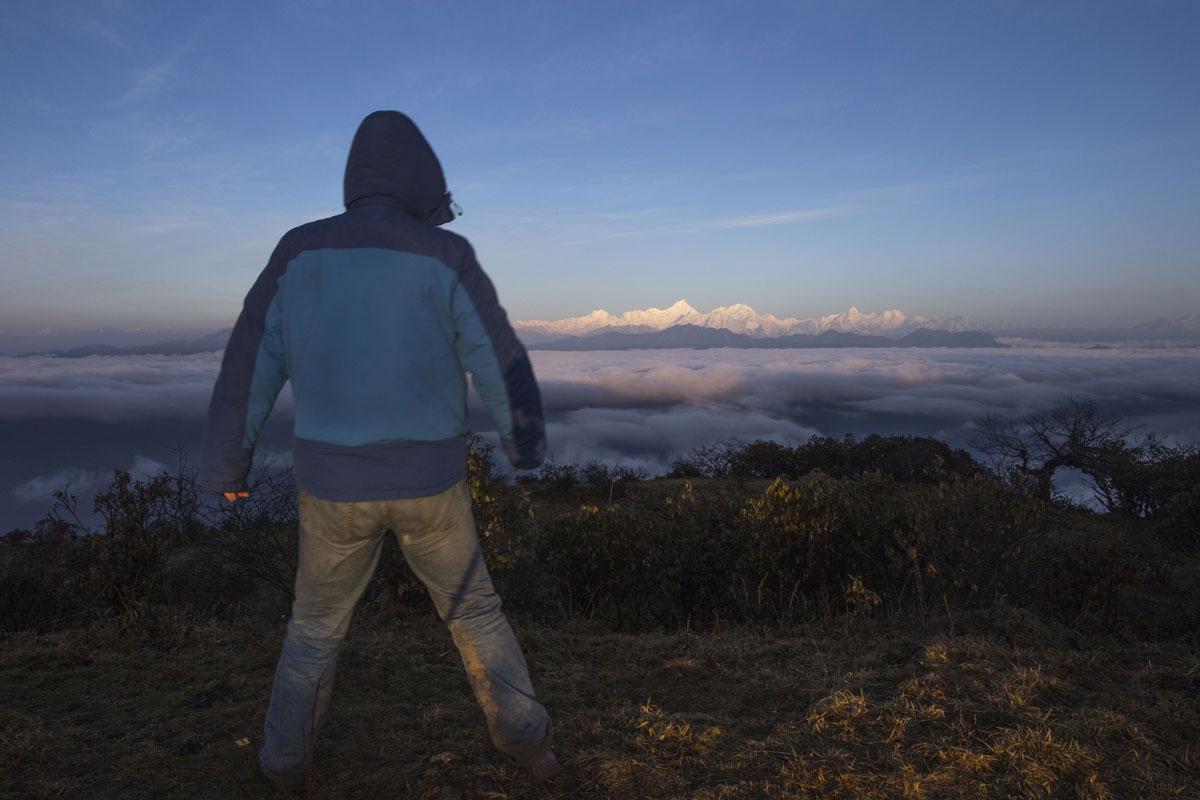 贡嘎山,雷打不动的每年看它一次,人在山在。